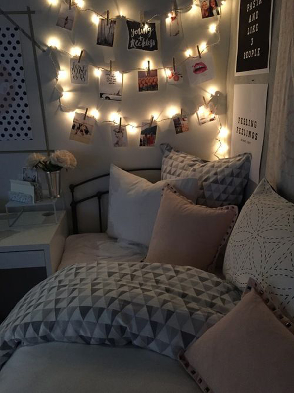 Dorm Room Ideas With Hanging Photos