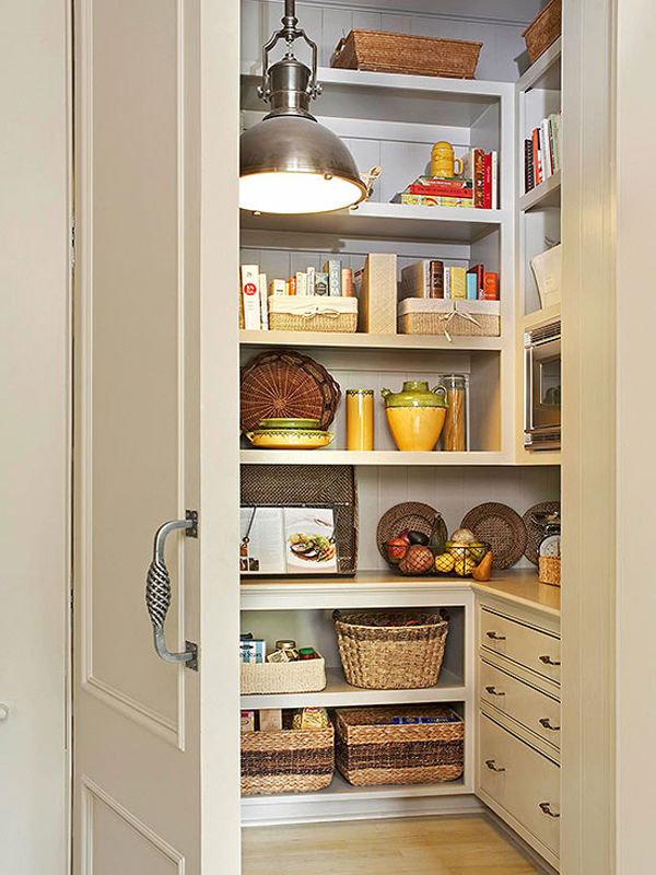 Hidden and elegant kitchen pantry storage for Hidden kitchen storage ideas
