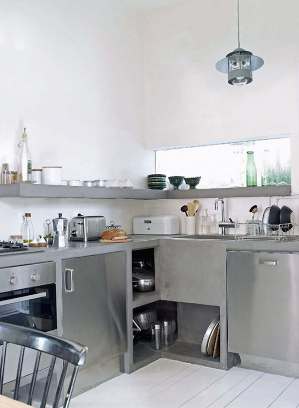 And minimalist industrial kitchen design home design and interior
