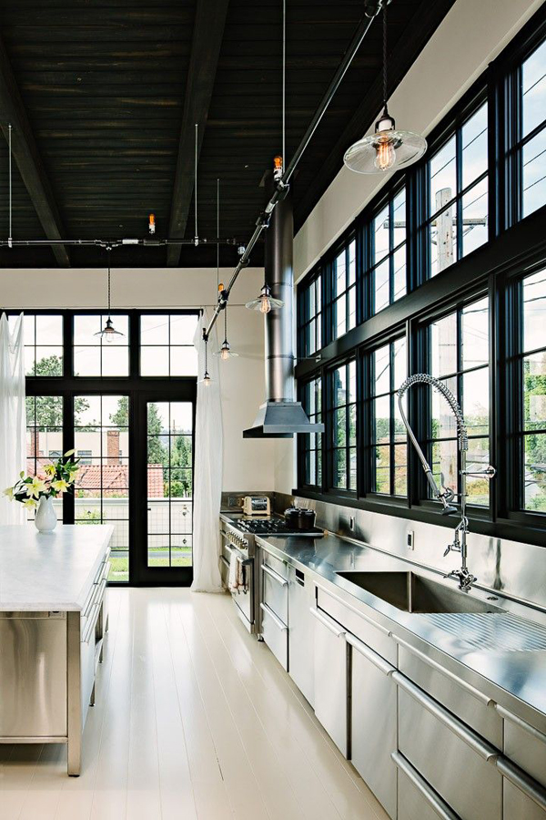 Cool and minimalist industrial kitchen design home for Industrial minimalist design