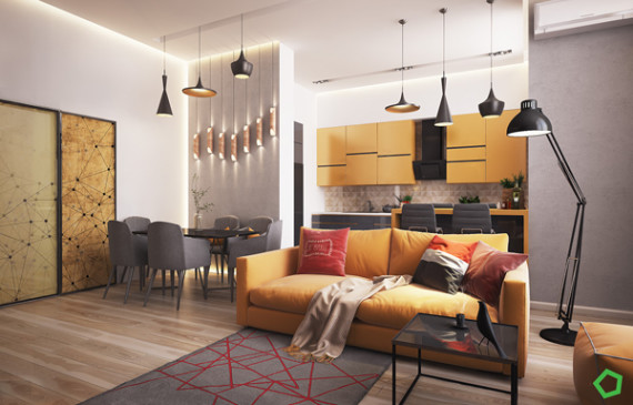 modern-yellow-apartment-living-rooms