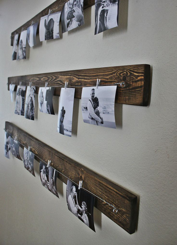 Diy Family Photo Display Click On Image To See More Home: Rustic-diy-family-photo-wall-ideas