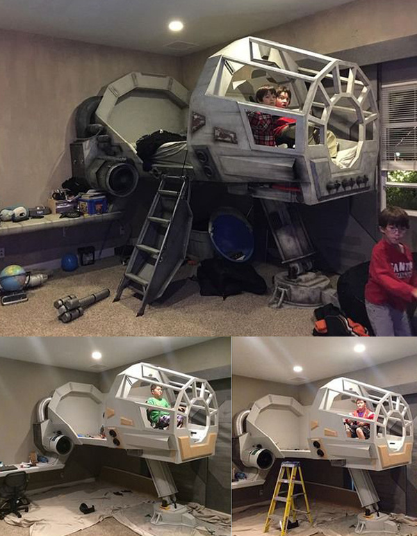 Http Homemydesign Com 2016 20 Awesome Star Wars Room For Little Boys