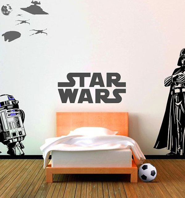 20 Awesome Boys Bedroom Ideas: Star-wars-wall-decal-ideas