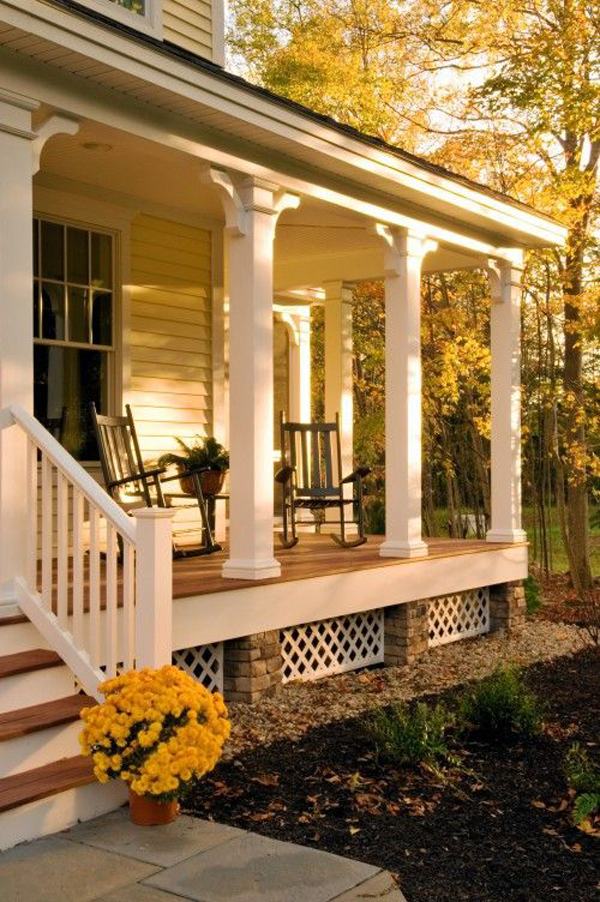 Summer front porch decor ideas Front veranda decorating ideas