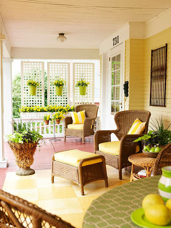 There Is A Special Reason Why I Chose Yellow For My Front Porch This Year,  I Thought It Fit The Theme Of Summer And I Can Not Wait To Make Yellow  Colors ...