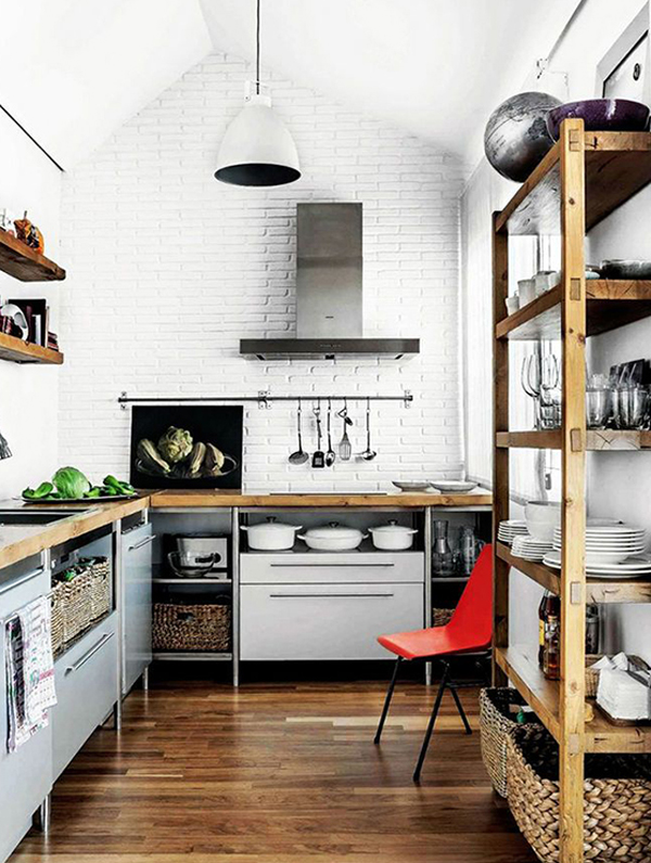 White industrial kitchen decor ideas Industrial design kitchen ideas