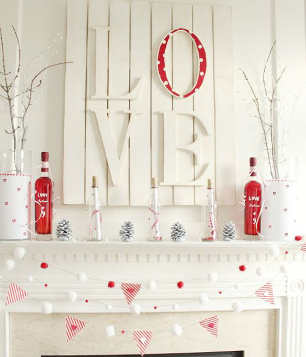 Valentine Gift Idea 2 Home Decor Frame Layout: 20 Gorgeous Valentine's Day Mantel Decorations
