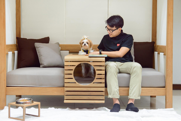 Pet Modular Unit Integrated To Human Home Design And