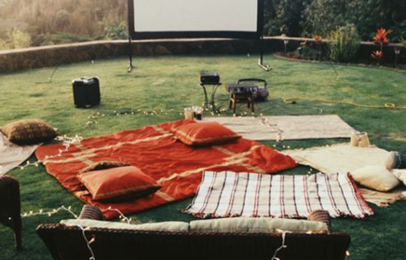 romantic-backyard-movie-theater-with-string-light