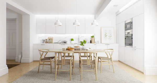 20 Relaxing White And Wood Dining Rooms | Home Design And Interior