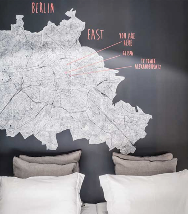 Bachelor Pad Apartment With Map Wall Art