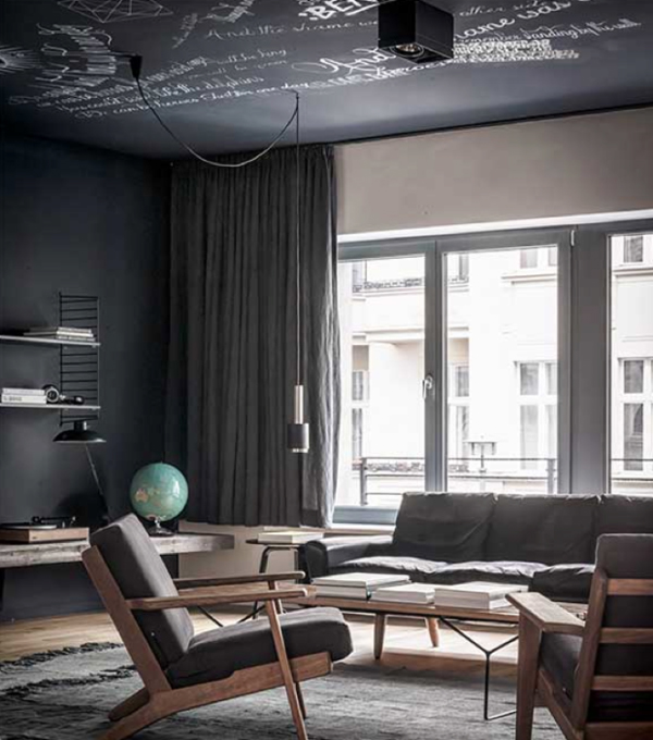 100 Bachelor Pad Living Room Ideas For Men: Masculine Bachelor Pad Apartment In Berlin