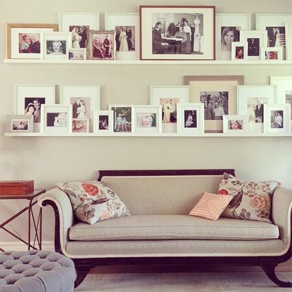 beautiful wedding photo display wall. Black Bedroom Furniture Sets. Home Design Ideas