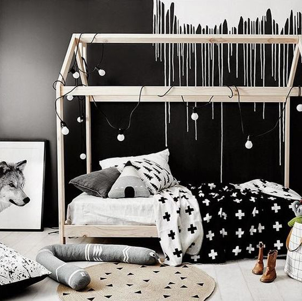 Black And White House Beds Design