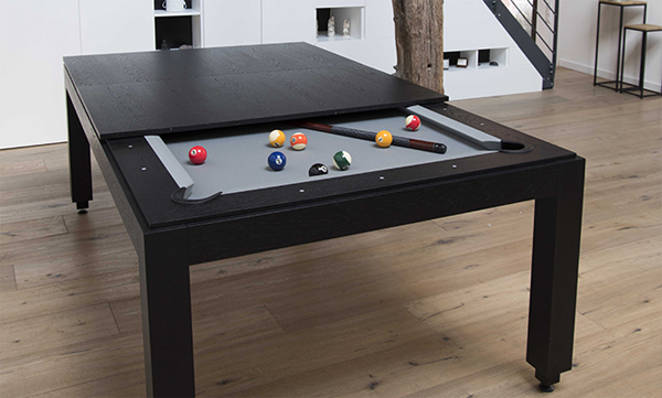 Wood Line Pool Table In Dining Areas | Home Design And Interior