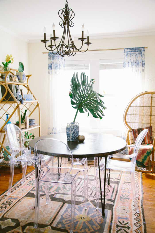Gorgeous bohemian home with stories behind home design for Dining room ideas bohemian