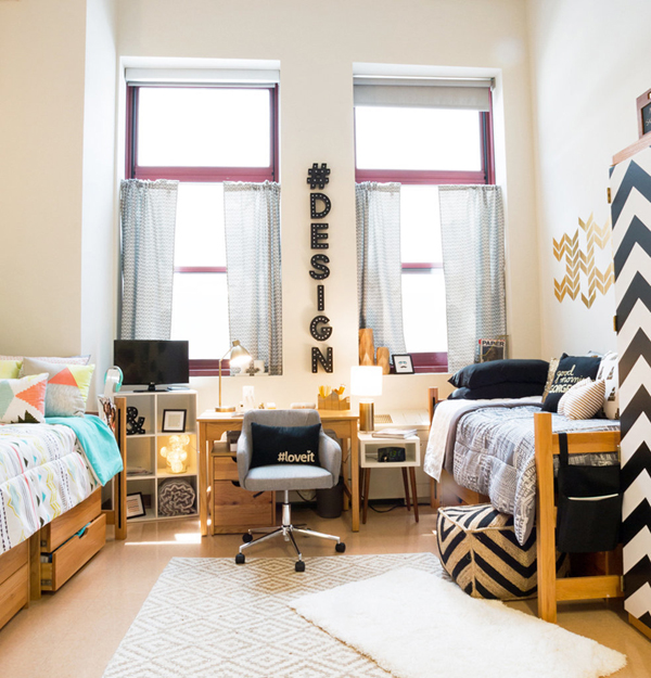 10 Modern And Stylish Ideas For Dorm Rooms | HomeMydesign