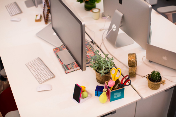 ... Creative Office Desk Decor: Full  Rather than choose a standard color  such as black and white, try switching to bright