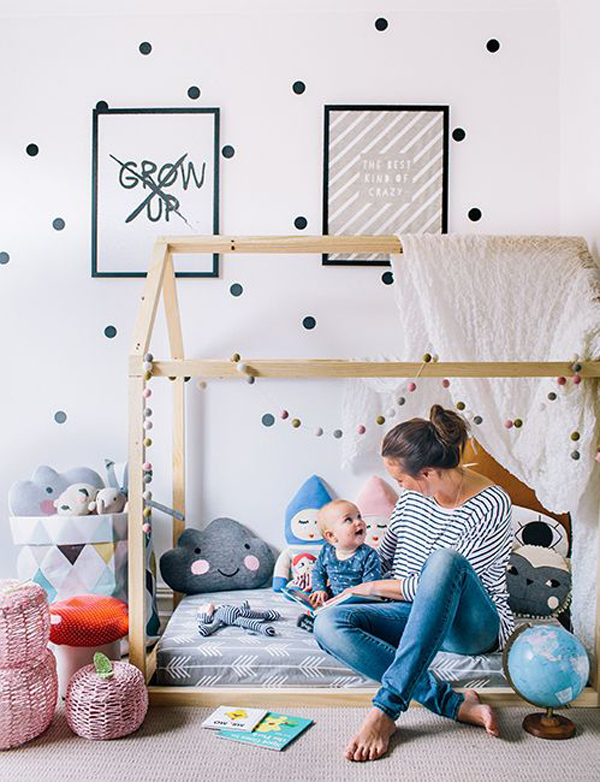 25 Cozy House Beds Frame For Your Kids' Rooms | HomeMydesign