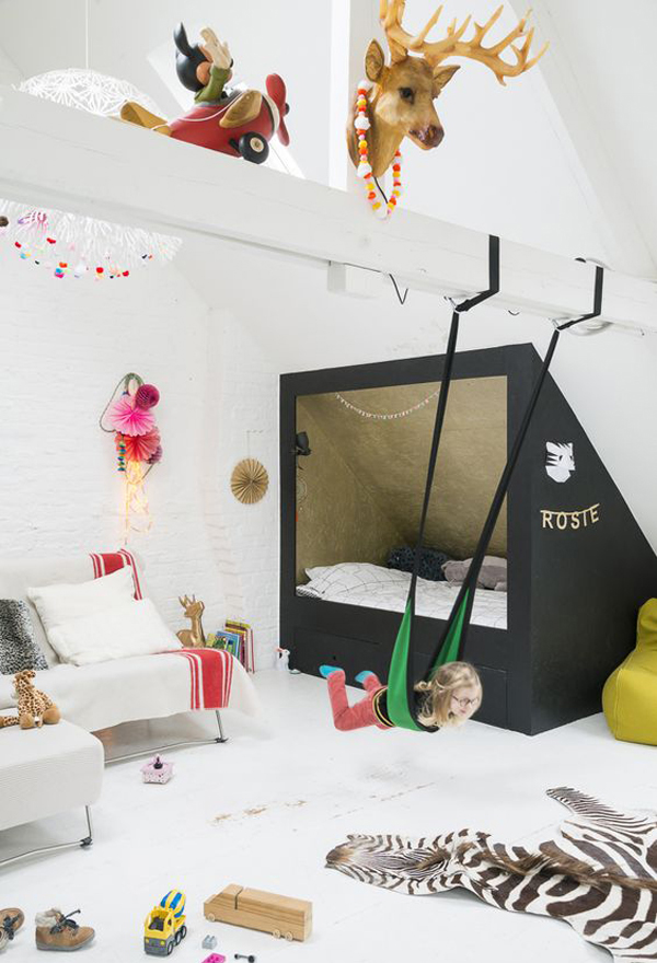 kids alcove beds with playroom design ideas - Playroom Design Ideas