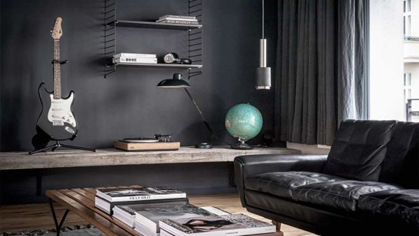 Masculine Bachelor Pad Apartment In Berlin | Home Design And Interior
