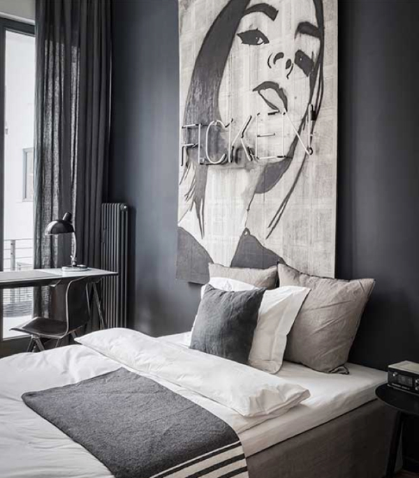 Masculine bachelor pad apartment in berlin home design and interior - Bachelor bedroom design ideas ...