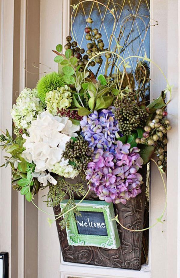 Spring Flower Arrangements Artificial Front Doors