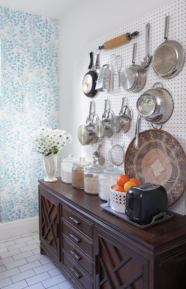 vintage-kitchen-pegboard-ideas | Home Design And Interior