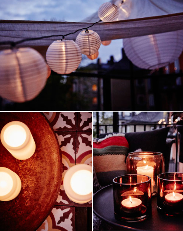 Ikea small balcony ideas for autumn home design and interior for Balcony lighting ideas