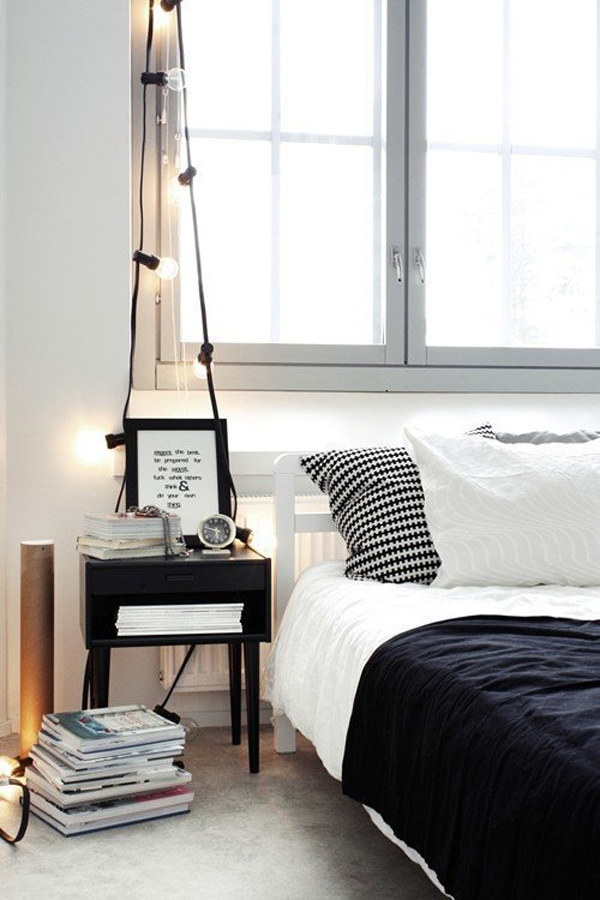 Bedroom Table String Light Stand. «