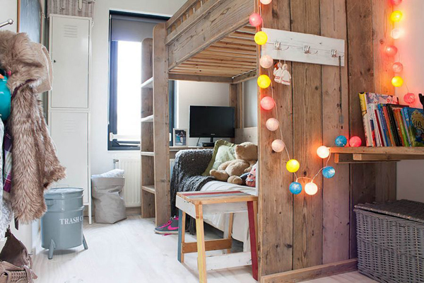 String Lights Childrens Bedroom : bohemian-kids-bedroom-string-lights