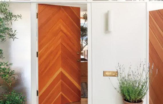 chevron-wooden-front-door