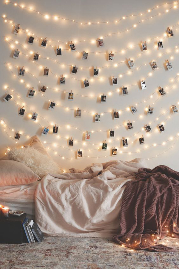 Gallery Of 22 Delightful Diy String Lights In The Bedroom