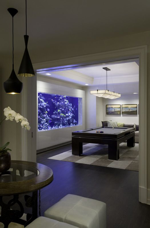 20 modern aquariums for cool interior styles home design - Home aquarium designs ...