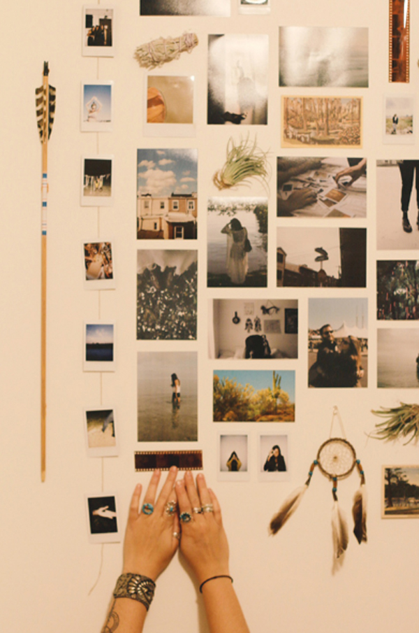 ideas for homemade picture collages - 20 Cool DIY Collage For Dorm Room Ideas