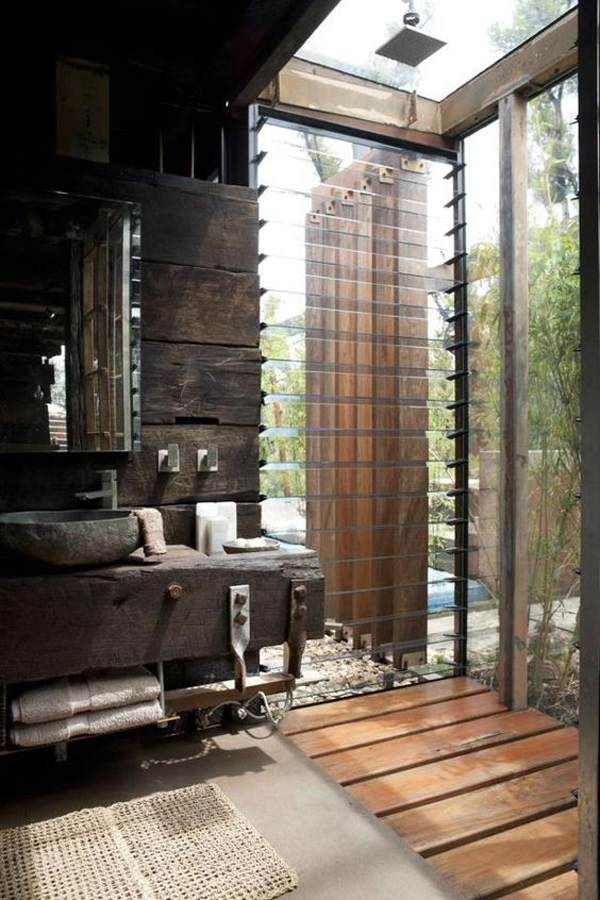 Bathroom Concept With Open Space Is Recommended Only For Those Who Live In Warm Climates I Have Collected 25 Nature Bathrooms Which Am Sure You Will