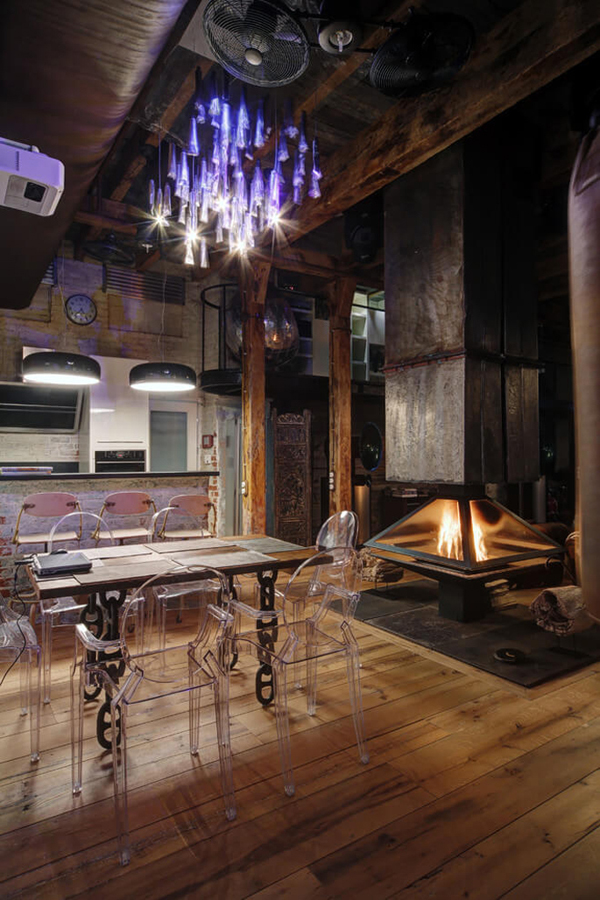 Industrial Bachelor Pad Loft Design In Russian | Home Design And ...
