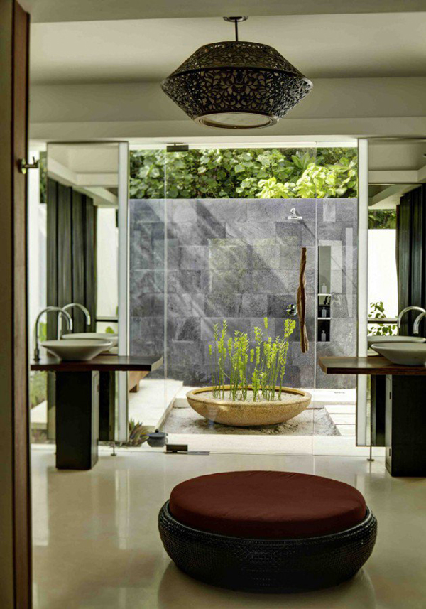 Modern bathroom with natural ideas for Bathroom designs natural