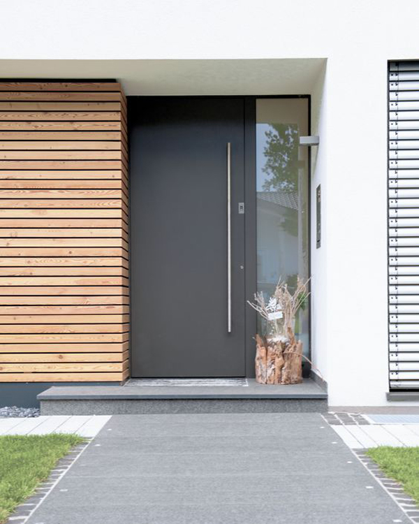 25 modern front door with wood accents home design and for Modern front doors for homes