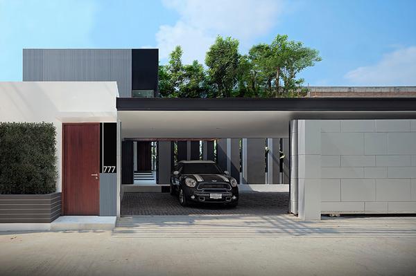 Modern House Garage