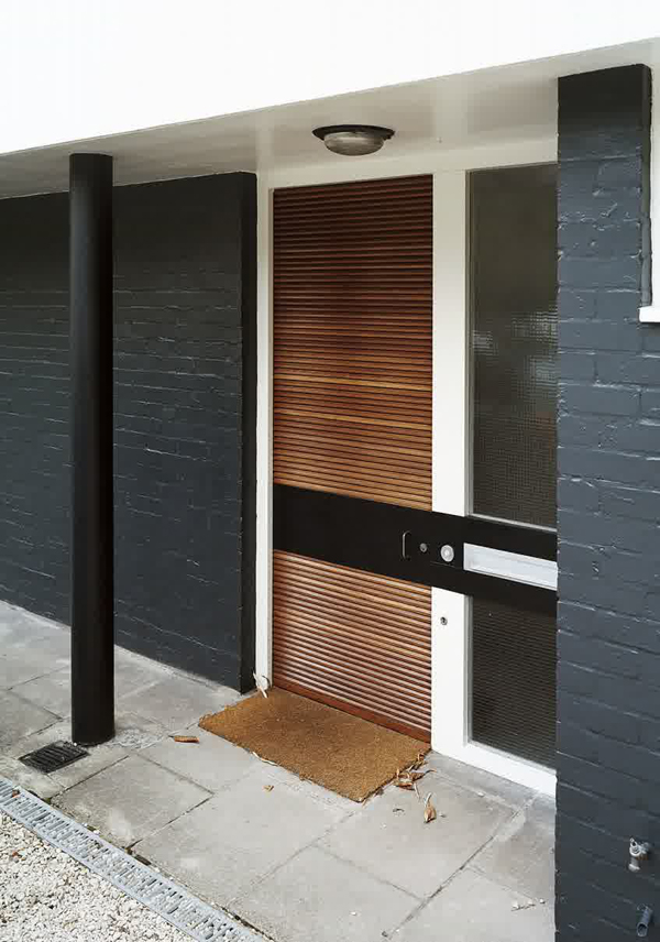 Slatted modern front door design for Design my door