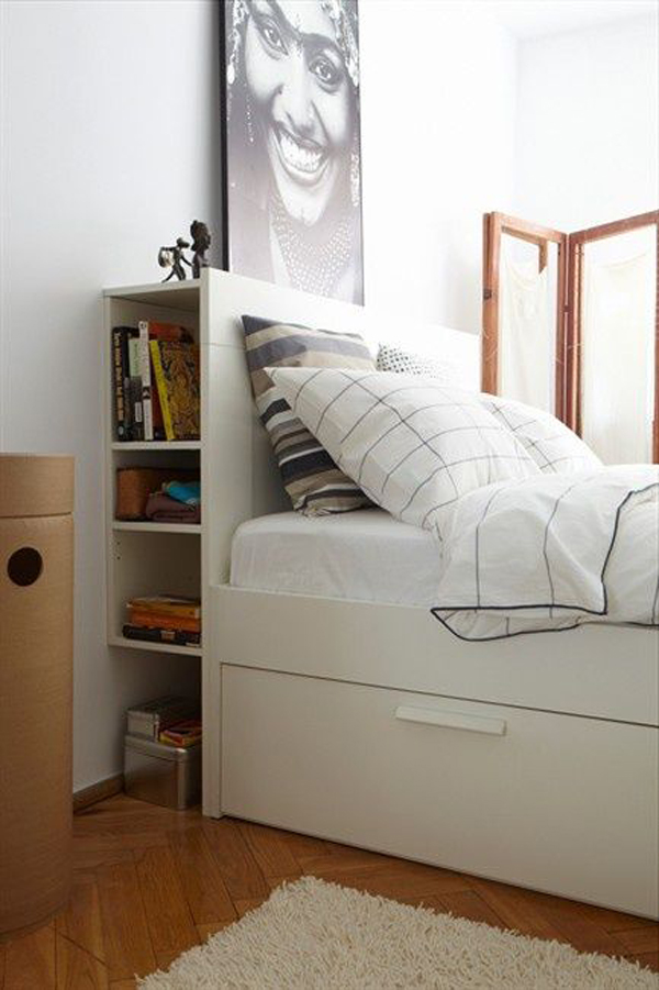 Marvelous Gallery Of 10 Small Bedroom With Headboard Storage Ideas