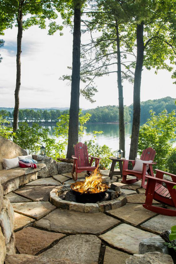 Outdoor Patio Ideas Backyards Fire Pits