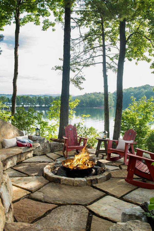 stone-cabin-fire-pit-ideas | Home Design And Interior