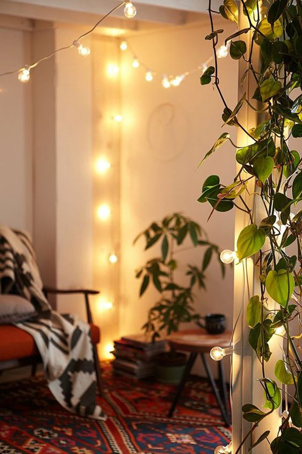 String Lights For Bedroom Diy : 22 Delightful DIY String Lights In The Bedroom Home Design And Interior