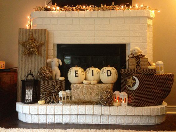 Diy eid and ramadan fireplace decor for At home decor