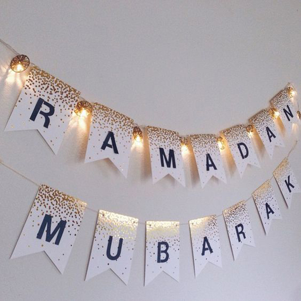 Diy ramadan mubarak banners Islamic decorations for home