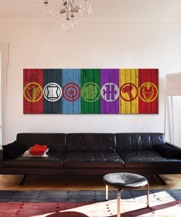 Avengers Symbols Gallery Wall Decoration