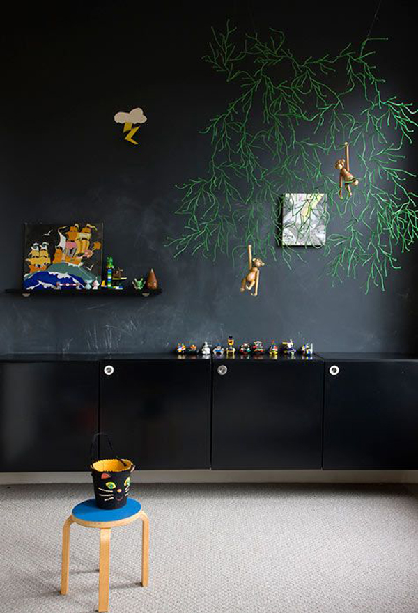 Study Room Decoration: 30 Education Kids Playroom With Chalkboard Ideas